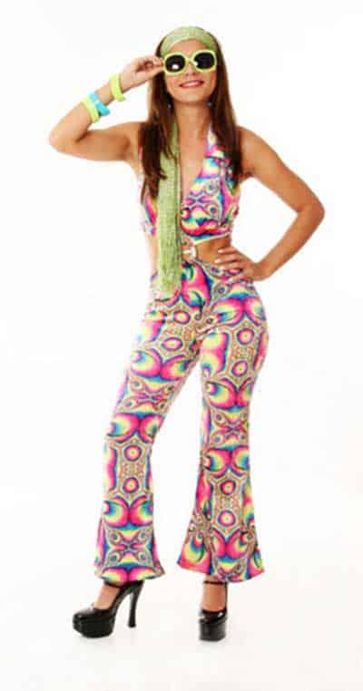 com calça colorida