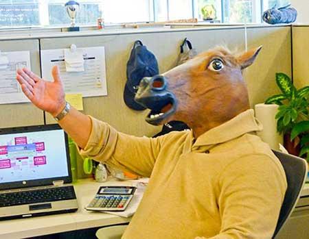 dica de máscara de cabeça de cavalo