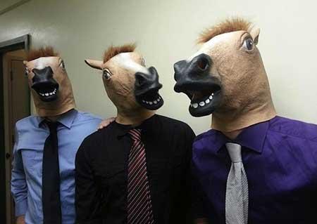 foto de máscara de cabeça de cavalo