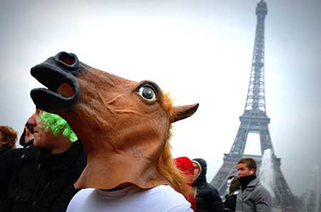 máscara de cabeça de cavalo