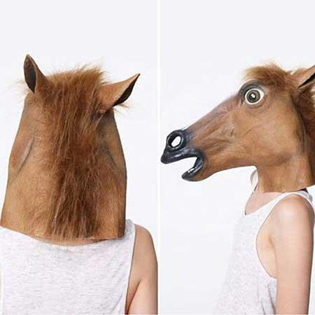 modelo de máscara de cavalo