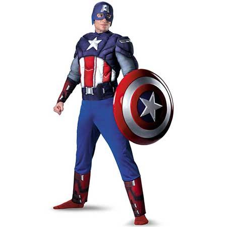 fantasia de capitão américa